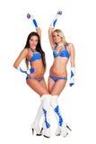 2 привлекательных танцора партии Стоковая Фотография RF