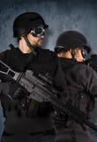 2 принципиальной схемы воинов, тяжёлого удара и полиций Стоковые Изображения