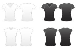 2 приспособленных женщины шаблонов рубашки t серии s Стоковая Фотография RF