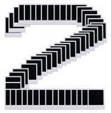 2 пробела снимают поляроид номера Стоковое Изображение RF