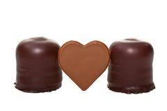 2 проскурняка с сердцем шоколада Стоковые Фотографии RF