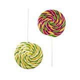 2 противоположных lollipops Стоковые Изображения RF