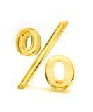 2 процента желтого цвета знака Стоковые Фотографии RF
