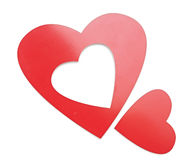 2 прочитали сердца Стоковое Фото
