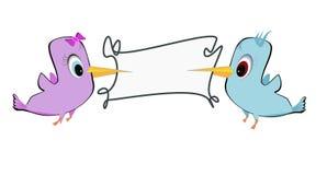 2 птицы и рамки Стоковая Фотография RF
