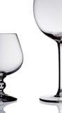 2 пустых стекла вина. Стоковые Фотографии RF