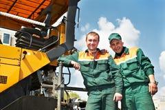 2 работника асфальта Стоковое Фото