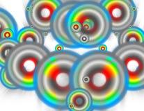 2 радуги круга Стоковые Изображения RF