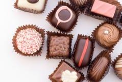 2 различного конца chocolat bonbons цветастых поднимающих вверх Стоковое Изображение RF