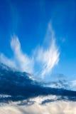 2 разрывали небо вечера Стоковые Фотографии RF
