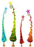 2 рождественской елки cartoonish Стоковое фото RF