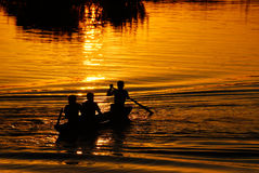2 рыболов Лаос Стоковое Изображение RF