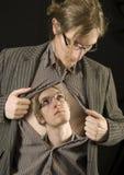 2 себя смотря человека Стоковое Изображение RF