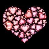 2 сердца сердца иллюстрация штока