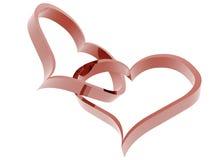 2 сердца Стоковое Изображение
