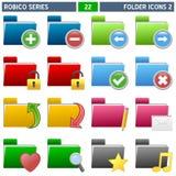 2 серии robico икон скоросшивателя Стоковая Фотография RF