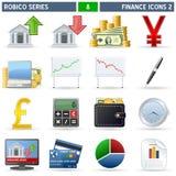 2 серии robico икон финансов Стоковое фото RF