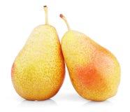 2 сладостных красных желтых плодоовощ груши Стоковое Фото