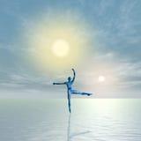 2 солнца танцульки Стоковые Фотографии RF