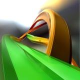 2 сплайна угла cristal Стоковая Фотография