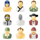 2 спорта людей иконы Стоковые Изображения RF