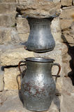 2 стародедовских бака металла Стоковые Изображения RF