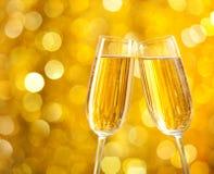 2 стекла шампанского стоковые изображения rf