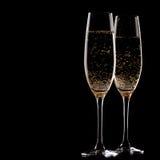 2 стекла шампанского Стоковая Фотография