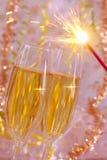 2 стекла Шампань. Стоковые Фотографии RF