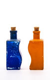2 стеклянных декоративных бутылки Стоковые Фотографии RF