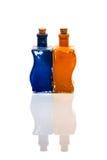 2 стеклянных декоративных бутылки Стоковая Фотография