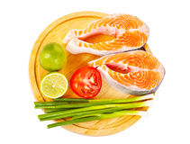 2 сырцовых salmon стейка Стоковое Изображение