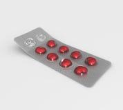 2 таблетки влюбленности Стоковые Изображения RF