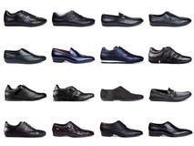 2 темных ботинка людей s Стоковая Фотография