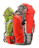 2 туристских рюкзака на белизне Стоковая Фотография RF