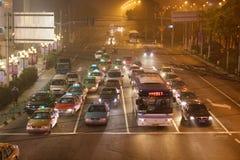 2 улицы shanghai ночи Стоковая Фотография RF