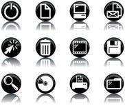 2 установленной иконы компьютера Стоковое Изображение RF