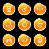 2 установленной иконы электроники иллюстрация штока
