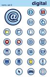 2 установленной иконы Стоковое Изображение