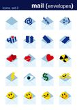 2 установленной иконы Стоковые Изображения RF