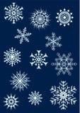 2 установленных снежинки Стоковые Фото