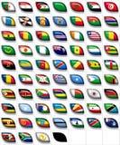 2 флага Африки Стоковое Фото