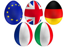 2 флага пасхального яйца иллюстрация штока