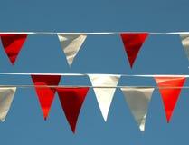 2 флага торжества Стоковые Изображения