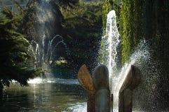 2 фонтана Стоковая Фотография