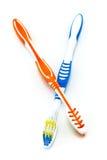 2 цветастых зубной щетки Стоковое Изображение RF