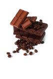 2 части шоколада Стоковые Изображения
