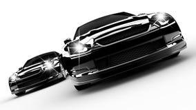2 черных автомобиля Стоковые Изображения RF