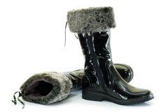 2 черных ботинка Стоковое Изображение