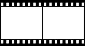 2 черных плоских изображения Стоковое Изображение RF